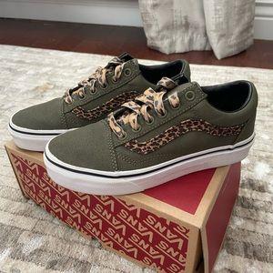 Leopard and Green Old Skool Vans